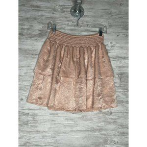 Beltaine Tiered Ruffled Mini Skirt Pink Size S